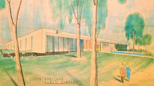 Main Library Concept Art, 1965