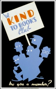 WPA Be Kind to Books Club Poster