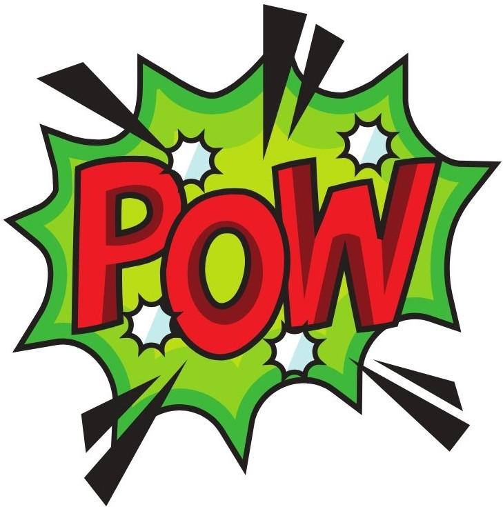 """Comic book pop bubble """"POW"""""""