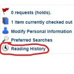 Screenshot: Reading History